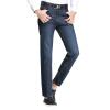 Красные бобы Hodo джинсы мужчины бизнес случайный классический чистый цвет моды Тонкие мужские джинсы синий 36