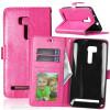 Розовая красная классическая флип-обложка с функцией подставки и слотом для кредитных карт для Asus ZenFone Zoom ZX551ML телефон asus zenfone zoom zx551ml 128gb черный