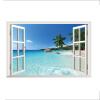 Beach Resort 3D Window View Съемный стикер стены ПВХ Art Decal Декор Mural de alturas resort 4 гоа