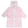 Kam бамбуковые волокна бамбука полотенца халаты халаты купание ребенка модели ванны мультипликационных впитывающие халат дети халат мягкий розовый длина платья 80см