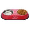 Парк Хань Хань кошка миска собаки миска собака миска кошка чаша животное фидерной воды двойной миска корм для кошек миски корма для кошек миски собака автоматических запасов воды толще раздел порошкового миска для кошек собак гамма n0