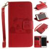 Красный Panda Стиль Тиснение Классический откидная крышка с подставкой Функция и слот кредитной карты для IPHONE 7