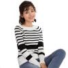 Инь Человек (ИНМАН) 2017 Нянь весной новый полосатый лодка шеи пуловер свитер женский черно-белый полосатый M 1871302289