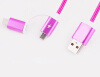 Nylon Braided 2 in 1 High Speed Sync Data Micro USB Charging Cable Line For iPhone 7 6s Plus Android 580199 line 6 pod studio ux 2 usb