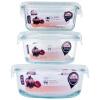 Супермаркет] [Jingdong Pyrex Золотой медведь чаша микроволновая четче ланч ланч запечатаны банок Parure (1000ml + 580ml + 550ml) JF812 сковорода pyrex 30cm et30bfx 6 1294222