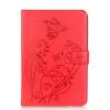 Красный цветок дизайн искусственная кожа флип кошелек карты держатель чехол для IPAD 6