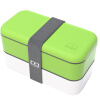 Супермаркет] [Jingdong Monbento оригинальные двойной правили микроволновка обед коробка Японские зеленые коробки 120,002,105 monbento