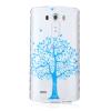 Синий дерево шаблон Мягкий чехол тонкий ТПУ резиновый силиконовый гель чехол для LG G3