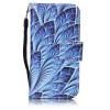 Blue Dazzle Дизайн PU кожа флип Обложка Кошелек для карты памяти чехол для Apple iPod Touch 5