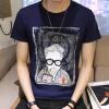lucassa с короткими рукавами мужские шею мужские персонажи футболки футболки печатных короткими рукавами футболки 98053 синий XXL