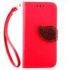 Красный Дизайн Кожа PU откидная крышка бумажника карты держатель чехол для LG G3/D858