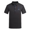 Pearson и (PELLIOT) наружные быстросохнущие футболки мужские и женские с коротким рукавом спортивные тонкие лацканные майки 1739 мужской черный XL
