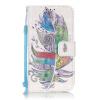Красочный Плюмы Дизайн Кожа PU откидная крышка бумажника карты держатель чехол для SAMSUNG G360 зеленый одуванчик дизайн кожа pu откидная крышка бумажника карты держатель чехол для samsung galaxy core prime g360