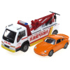 Kaidiwei Engineering Vehicle Model 1:50 Road Wrecker Rescue Rescue Car Car Trailer (со звуком и светом) 1 18 car model for jeep wrangler swat police car rescue 1 off road vehicle suv alloy toy car