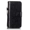 Черный цветочный дизайн Кожа PU откидная крышка бумажника карты держатель чехол для IPHONE 5C черный цветочный дизайн кожа pu откидная крышка бумажника карты держатель чехол для iphone 6s