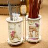 Evergreen керамические печатные двойные палочки для еды Цилиндрическая плитка Основа для капельницы Кухонная посуда Хранение посуда кухонная