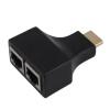 HDMI К двухпортовый RJ45 сетевой кабель Extender Over от Cat 5e / 6 1080p 80 channels hdmi to dvb t modulator hdmi extender over coaxial