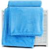 Sanli простой цвет ультра-мягкий бархат одно одеяло 150 × 200 см домашний офис обед четыре сезона общий обложка одеяло голубой ladysoft домашний офис nap игловое одеяло 127 153 см