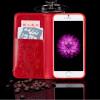 Кожа Раскладной телефон чехол для Iphone 6 6s 7 7s плюс сотовый телефон ретро крышки масляного бумажника держателя карты Stand тел сотовый