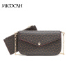2 Pieces 2016 New Arrival Fashion Envelope Bag PU Leather Floral Print Composite Women Shoulder Bags Brand Women Gift 2017 new arrival england mori style diamonds bow flower pu chain embroidery bird handmade wool felt women messenger shoulder bag