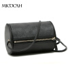 Free Shipping Barrel-Shaped Fashion Women Messenger Bags High Quality Solid Color PU Leather Mini New Brand Women Bag brand high quality soft real pu leather backpacks for teenage girls female school shoulder bag fashion women school backpack new