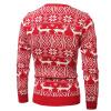 Mens вскользь длинными рукавами Рождественский олень пуловер свитер пуловер с длинными рукавами