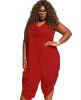 крупных женщин размер женская одежда цельный брюки Rompers одежда для женщин