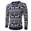 Mens вскользь длинными рукавами Рождественский олень пуловер свитер