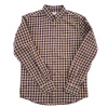 BIIFREE Men's Clothing Casual Button-Down Plaid shirt 100% Cotton plaid embroidered button down shirt