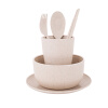 Portable Reusable Wheat Straw Tableware Environment-friendly Tableware Gift Set 460546 wheat breeding for rust resistance