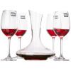 Law School (ROUPA) бессвинцовые кристалл вина графины указывает вино с высокими бокалами красного вина Подарочный набор (410ml красное вино стекла графины * 4 + 1000мл * 1) книга вина