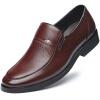 Пуатула Мужская кожаная обувь Мужская обувь для мужчин Мужская одежда Повседневная обувь 989 Коричневый 42 мужская обувь