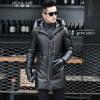мужчины кожаную куртку, длинные рукава одежды осенью witer подлинного овчины мотоцикл пальто настоящая кожа более новый стиль с du мужчины lamb шубу короткий мех куртку с капюшоном зимней одежды длинные рукава