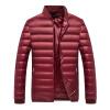 Антарктических мужская мода Корейского бейсбол куртка воротник 90 белая утка вниз теплая вниз куртка сплошного цвета бордового XL 1902 антарктических мужская мода корейского