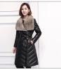 long women winter coat sheep skin and mink fur coats