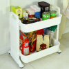 Bao You Ni Хранение Полка Кухонная полка Двухслойная подвижная отделка Рама для хранения Хранение Полка для овощей Кухонная посуда DQ1518