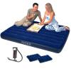 Надувная кровать INTEX Deep Blue Flocking Double Plus 68765 Отправьте оригинальный ручной насос и 2 подушки