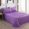 Большая кровать (DAPU) постельное белье домашний текстиль класс кровать постельные принадлежности расчесанный хлопок чистые цветные листы большие двойные листы цельный гиацинт фиолетовый 1,8 м кровать 240 * 270 см кровать