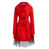 CT & F Зима Женщины Шерсть фраке Женщины Теплая Верхняя одежда Пальто Платья пальто f