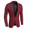 Мужчины Blazer деловой костюм деловой костюм effects of color 044