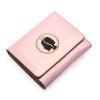 Сисси P.Sissi бумажник женский короткий параграф кожаный бумажник корейский немного мульти-карт бумажника три раза бумажник сцепления розовый 2079