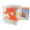 Ню Анжи хомяк клетка хомяка принадлежности хомяка клетка клетка клетка основа Двухэтажная вилла дома небольшие поставки животных оранжевый снег парк колесо для хомяка