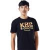 где купить Kawasaki KAWASAKI мужские случайные с короткими рукавами футболки свитер спортивная одежда бадминтон свитер рыхлый дышащий черный ST-16192 L по лучшей цене