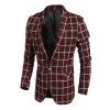 Мужчины Blazer квадратной сетки пиджака