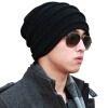 CACUSS WOOL KNIT HATS MEN ДВУХМЕСТНАЯ ПОВЕРХНОСТНАЯ КОСТЮМА HATING CAP Unisex Winter Hat Black Front - Темно-серый Z0081 aetrue knitted hat winter beanie men women caps warm baggy bonnet mask wool blalaclava skullies beanies winter hats for men hat