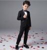 Мальчик досуг черный костюм куртки детской одежды четыре кусок костюм кольцо предъявителя костюм костюм bezko костюм