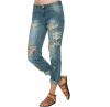 Boyfriend джинсы для женщин 2015 Новая мода лето Стиль Женские джинсы Denim Сыпучие Holes шаровары рваные джинсы Женщины