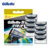 Подлинная Gillette Mach 3 для Бритья Лезвия Для Мужчин Лезвия С 8 Лезвия бритва с кассетой 1 сменная mach 3 turbo 3 лезвия gillette