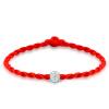 Maltia 925 серебряный красный канат браслет для подружки