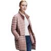 Пирр Кардин (Пирр Кардин) 23C3621 женской моды модели воротник и длинные участки Slim Down розовый M (165)